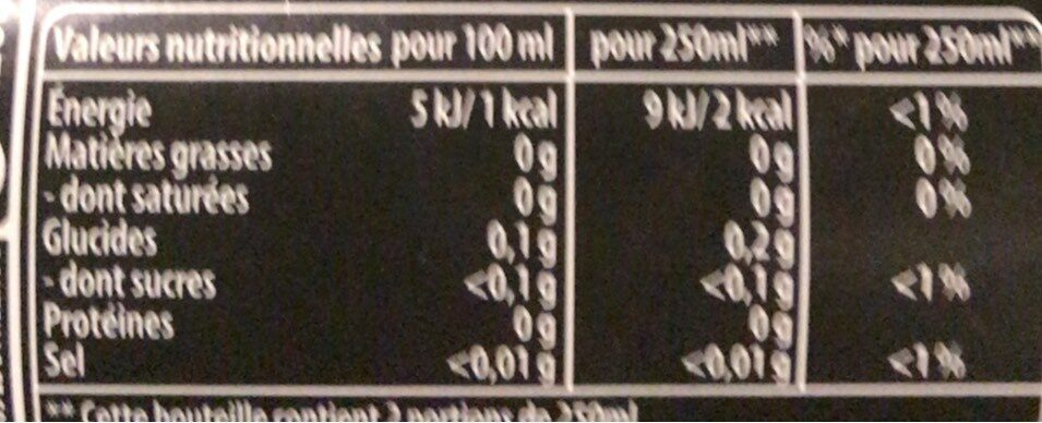 Mountain Dew 50 cl - Informations nutritionnelles - fr