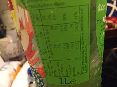 Lipton green peche blanche - Informations nutritionnelles - fr