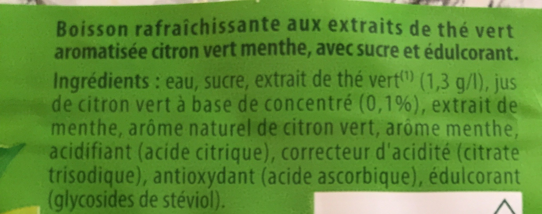Lipton Green Ice Tea saveur citron vert menthe 1 L - Ingredienti - fr