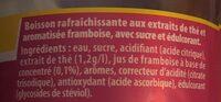 Ice tea framboise - Ingredients