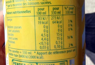 7UP Lemon Lemon Citronnade gazeuse citron 33 cl - Informations nutritionnelles - fr