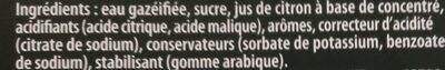 7UP saveur mojito mini cans 8 x 15 cl - Ingredienti - fr