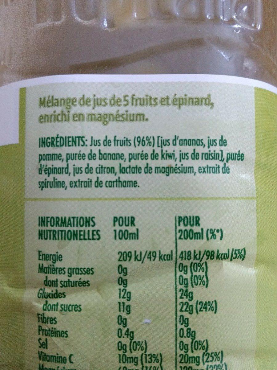 Tropicana essentiels vitalité - Ingrédients - fr
