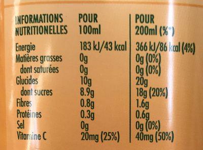 Tropicana essentiels FIBRE PLUS - Nutrition facts