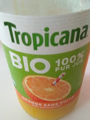 Tropicana BIO 100% Pur jus orange sans pulpe - Product - fr