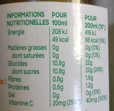 Tropicana BIO 100% Pur jus orange sans pulpe - Voedingswaarden - fr