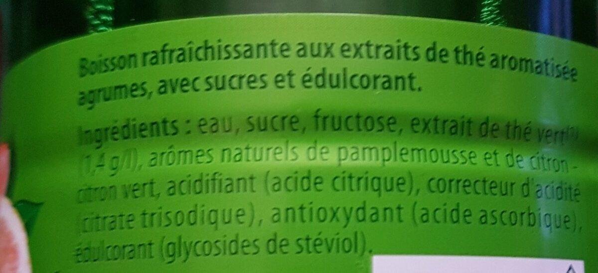 Lipton Green Ice Tea saveur agrume 1 L - Ingrédients - fr