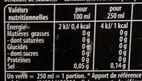 Pepsi Max - Informations nutritionnelles - fr