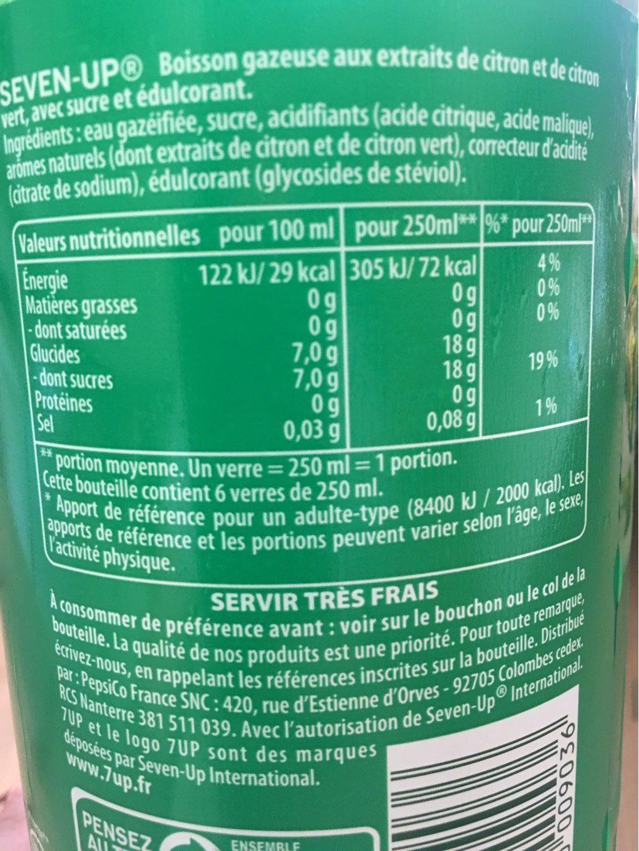 SevenUP - Informations nutritionnelles - fr