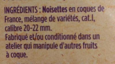 Noisettes coques - Ingrédients - fr