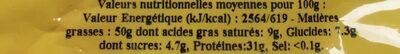 Arachides coques grillées à sec - Ingredients