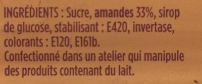 Pâte d'amande rose - Ingrédients - fr