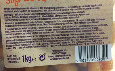 Abricots Moelleux N °4 Standard - Ingrédients - fr