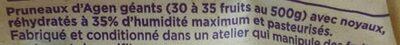 Pruneaux sans conservateur - Ingrédients - fr