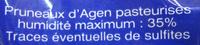 Pruneaux d'Agen avec noyaux - Ingrédients - fr