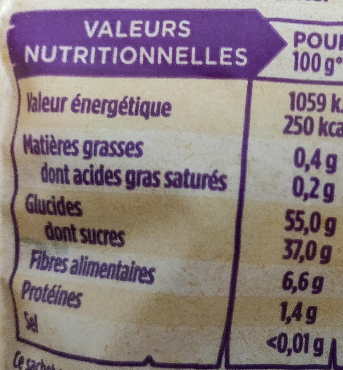 Pruneaux d'agen avec noyaux - Valori nutrizionali - fr