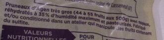 Pruneaux d'agen très gros - Ingredienti - fr