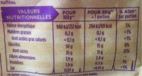 Pruneaux d'agen très gros - Valori nutrizionali - fr