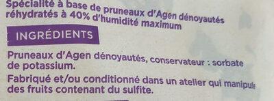 Prunilles géantes dénoyautées - Ingrédients - fr