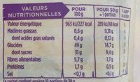Prunilles géantes dénoyautées - Informations nutritionnelles - fr