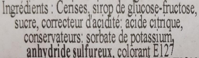 Bigarreaux confits - Ingrédients - fr