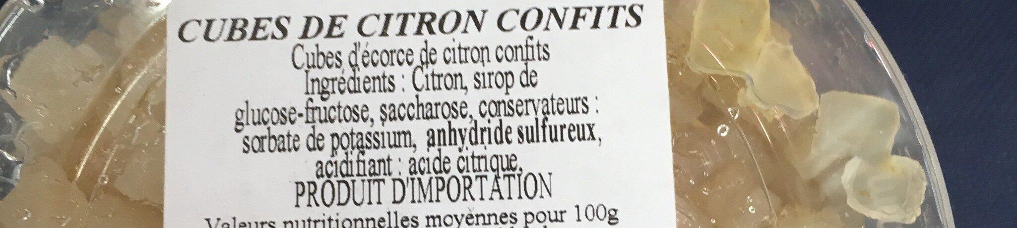 Citrons confits en cubes maitre prunille - Ingrédients - fr