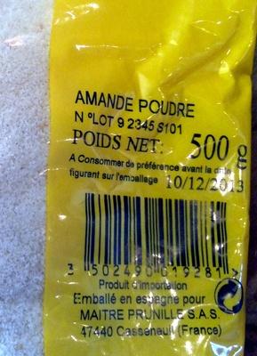Amande Poudre - Ingrédients - fr