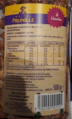 Chouchou cacahuètes sucrées - 15