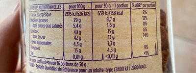 Chouchou cacahuètes sucrées - Informations nutritionnelles