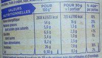 Graines de tournesol grillées salées - Nutrition facts - fr