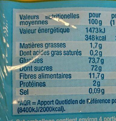 Croq'pommes - Informations nutritionnelles - fr