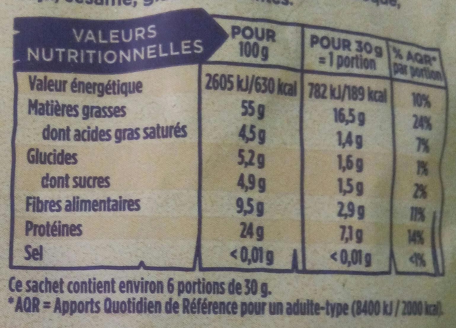 Amandes Décortiquées Bio - Informations nutritionnelles - fr