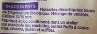 Noisettes décortiquées bio - Ingrédients - fr
