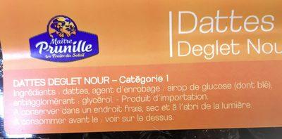 Datte - Ingrediënten - fr