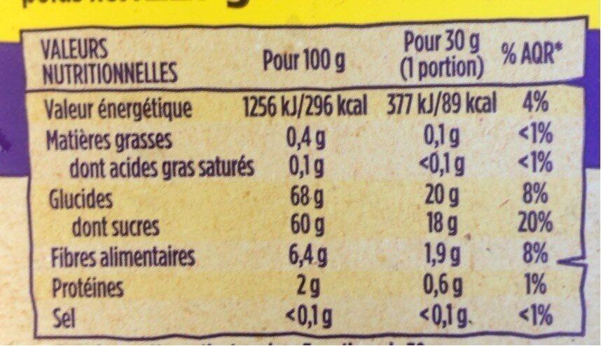 Datte - Voedingswaarden - fr