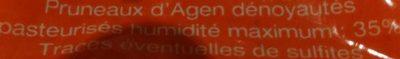 Pruneaux d'Agen dénoyautés - Ingrediënten