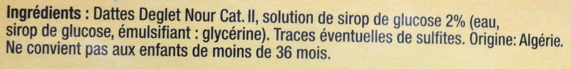 Dattes, Deglet Nour, - Ingrédients - fr