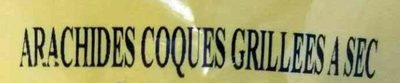 Arachides coques grillées à sec - Ingrédients