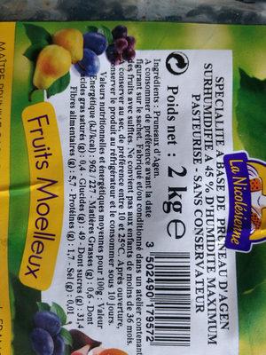 pruneaux d'Agen - Ingredients - fr