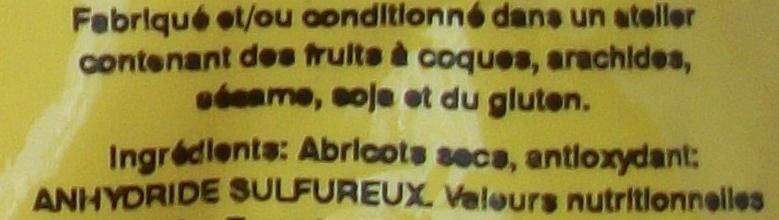Abricots secs - Ingrédients - fr