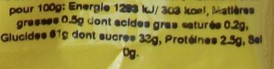Abricots secs - Informations nutritionnelles - fr