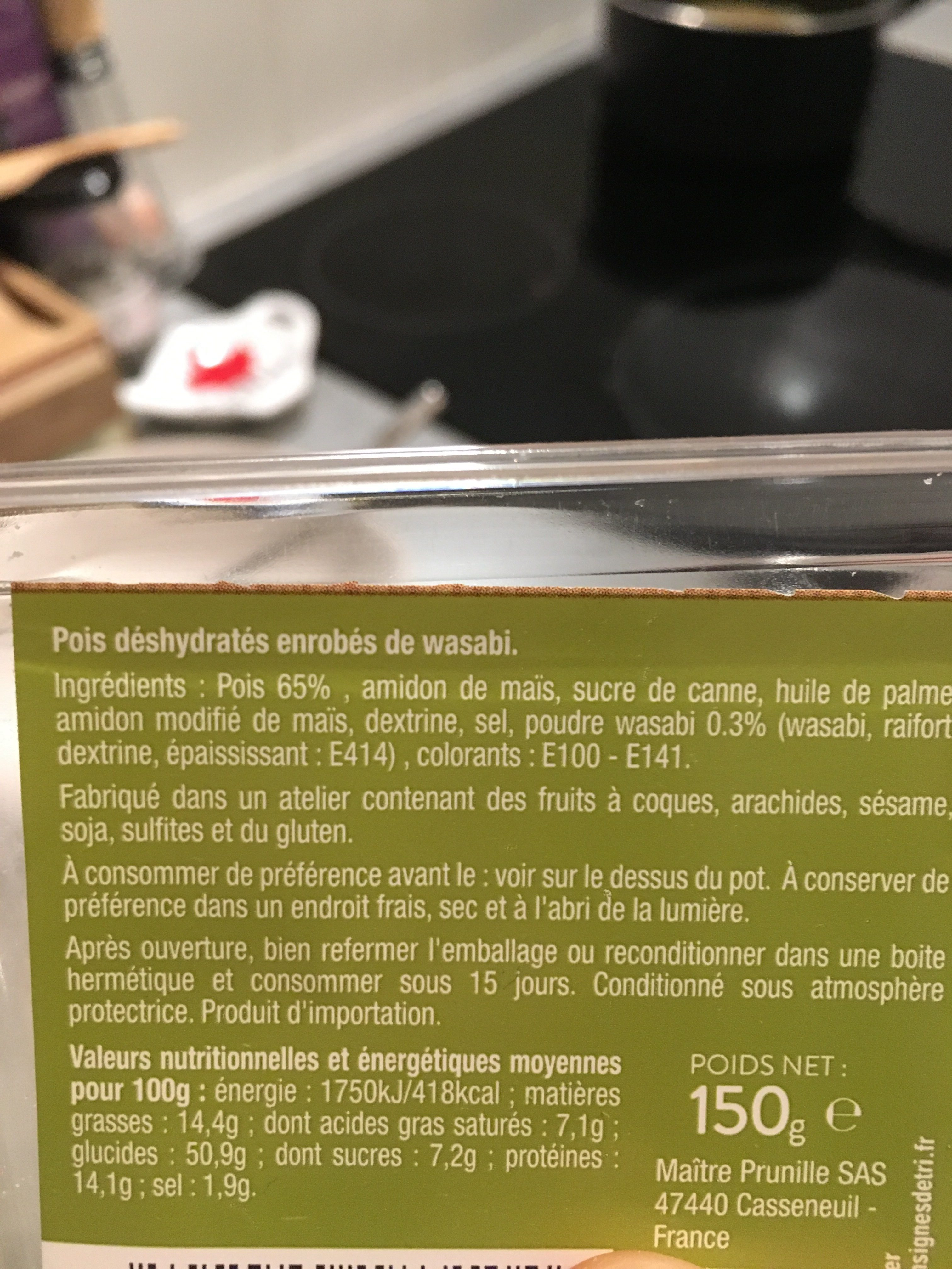 Pois au wasabi - Ingredients - fr
