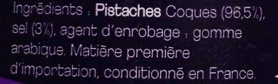 Pistaches coques grillées salées - Ingrédients