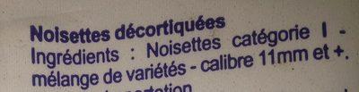 Noisettes Décortiquées - Ingredientes - fr