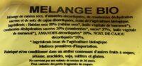 Melange bio - Ingrédients - fr