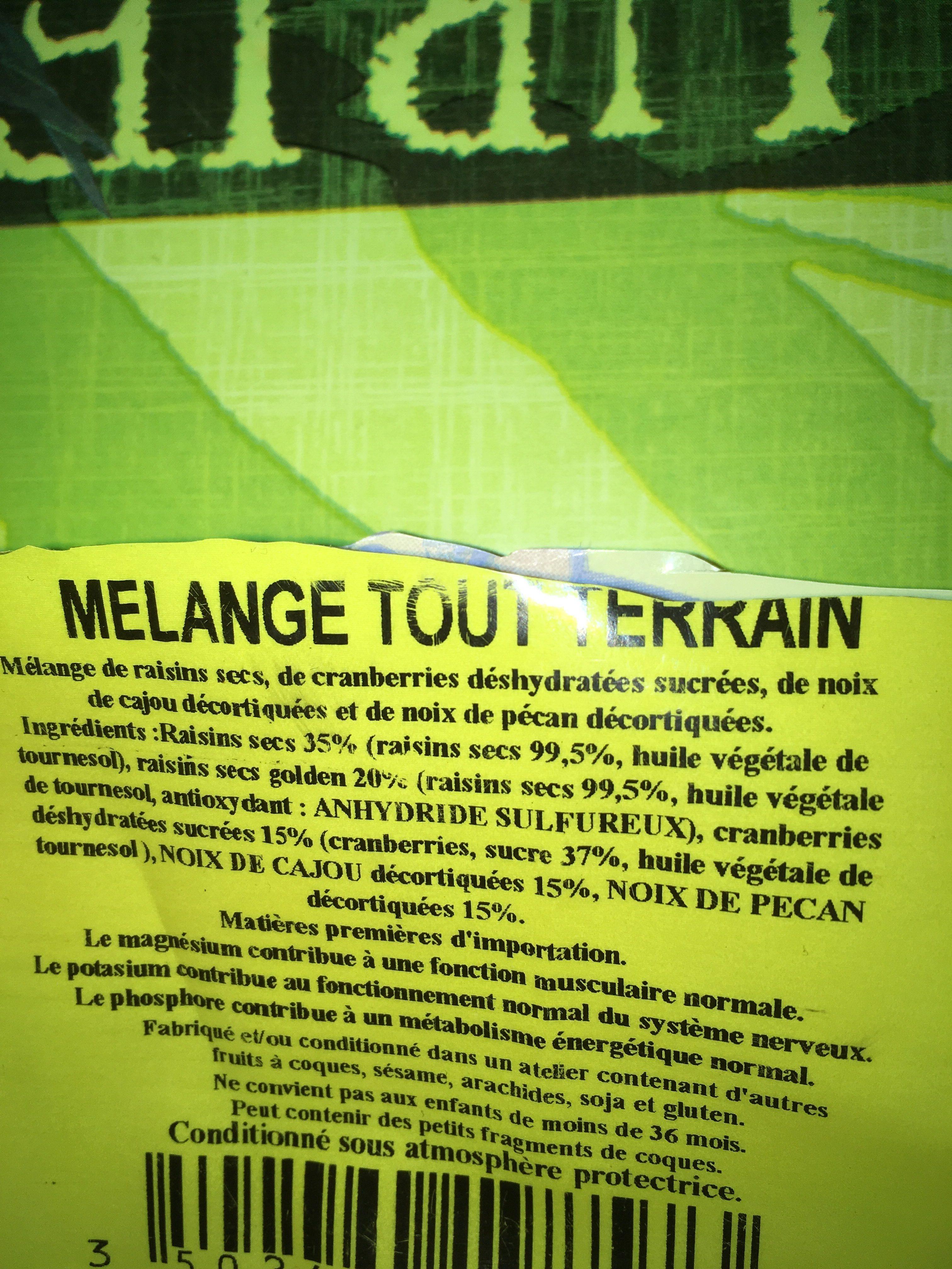Melange Tout Terrain - Ingrédients - fr