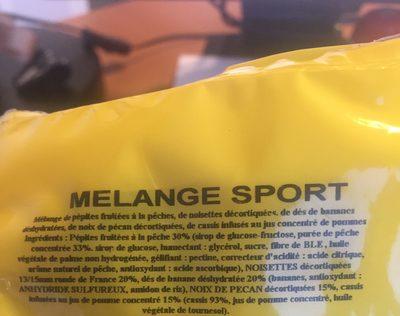 Melange Sport - Ingrédients - fr