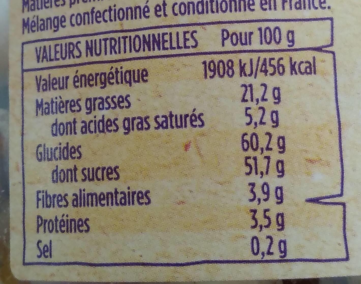 Mélange Hawaï - Informations nutritionnelles - fr