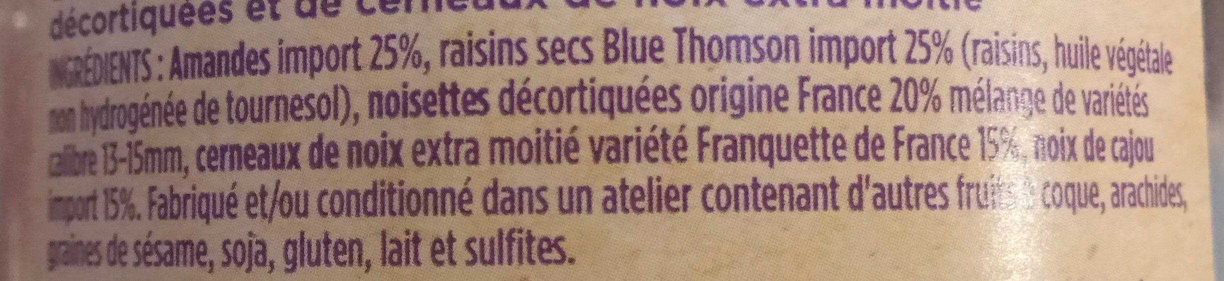 Mélange Trocadero - Ingredients
