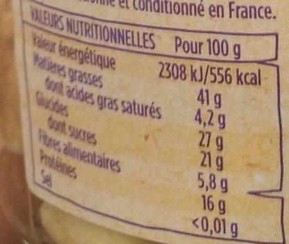 Mélange Trocadero - Nutrition facts